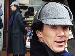 Perhaps Sherlock likes the deerstalker after all: Benedict Cumberbatch wears iconic Holmes hat as he films new series