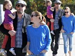 Family fun day! Ben Affleck and Jennifer Garner take daughter Seraphina for a walk... before actress enjoys solo stroll with Violet