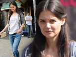 Makeup-free Katie Holmes smartens up her look on film set...as ex Tom Cruise 'didn't address' their divorce in German interview, says rep
