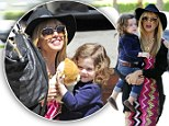 Rachel Zoe and Skyler Berman were enjoying time together after having lunch at Le Pain Quotidien in West Hollywood, CA with son Skyler