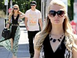 Taking it to the maxi! Paris Hilton steps into spring in a pretty patterned dress for lunch with boyfriend River