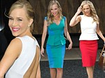Winning trio: Julie Benz stepped out in three gorgeous outfits in one day in New York, on Wednesday
