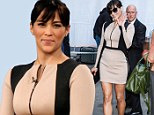 Hello legs! Paula Patton makes sure to put her curves on show in a nude illusion dress on Good Morning America