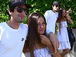 Peace out! Adrien Brody and model girlfriend Lara Lieto look carefree and in love while on lunch date