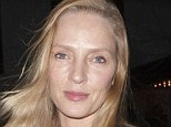 Stunning: Uma Thurman looked flawless as she left her apartment in New York on Thursday