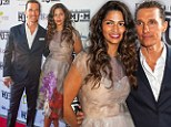 Picture-perfect Matthew McConaughey and Camila Alves dazzle as she shines in iridescent floral dress and peep-toe heels