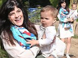 Full steam ahead! Selma Blair's 19-month-old son expresses his personal style in Thomas the Tank Engine wellies