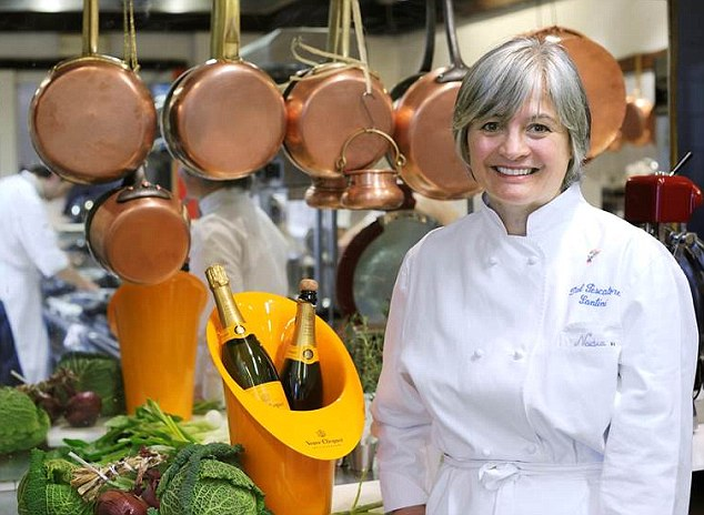 Nadia Santini, who has just been named the world's best female chef, in her kitchen at Dal Pascatore