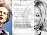 The Spice Girl angered fans on Monday by writing: 'Thinking of our 1st Lady of girl power, Margaret Thatcher, a grocer¿s daughter who taught me anything is possible¿x¿.