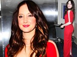 Andrea Riseborough showed up to LAX airport wearing a gown