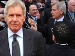 Harrison Ford at premiere Thursday of biopic '42' in Kansas City where Jackie Robinson played in the Negro Leagues before breaking baseball's color barrier