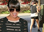 Keeping her mind off things: Lea Michele dines with parents as she's pictured for first time since boyfriend Cory Monteith was admitted to rehab