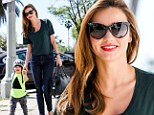 Sweet smile: Miranda Kerr looked cool, calm and collected as she stepped out in LA on Thursday