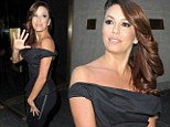Ready to mingle! Eva Longoria squeezes her figure into sexy off-the-shoulder black top and trousers to promote new show