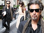 Playful pout: Al Pacino mugged playfully as he puckered his lips en route to dinner with girlfriend Lucila Sola in Rome, Italy, on Friday
