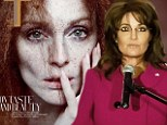 Actress Julianne Moore appears on the cover of T magazine and opens up on portraying polarizing U.S. politician Sarah Pallin