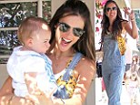 Reminiscing about her younger years! Alessandra Ambrosio turns back the fashion clock in dungarees as she turns 32