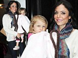 'It's excruciating': Bethenny Frankel describes agony of divorce from Jason Hoppy as she steps out with daughter Bryn