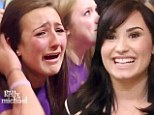 'I'm sorry, don't cry!': Demi Lovato is taken aback by screaming, sobbing female fans during appearance on Live With Kelly And Michael