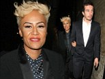 Still in the honeymoon phase: Newlywed Emeli Sandé makes rare public appearance with husband Adam Gouraguine at awards