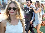 Boho chic! Kate Bosworth flaunts her toned legs in tiny shorts at Coachella as she cosies up to fiance Michael Polish