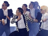 One hit wonder: PSY unveiled his new song, Gentleman, and its accompanying arrogant dance, at a concert in Seoul, South Korea, on Saturday afternoon