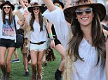 An Angel lands in Coachella! Victoria's Secret model Alessandra Ambrosio heats up desert music festival in hippie chic style