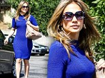 Jennifer Lopez brings it on Friday in a bright blue dress while out in West Hollywood