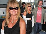 Still in love! Goldie Hawn and Kurt Russell return to Los Angeles after New York benefit