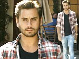Scott Disick sported facial hair and ripped jeans in Beverly Hills on Thursday