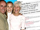 'I don't speak to my parents anymore': Amanda Bynes claims she has shut them out as they try to help their troubled daughter
