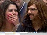 The moment Joe Jonas surprises a super fan who asked him to prom by pulling off a disguise in Today show crowd