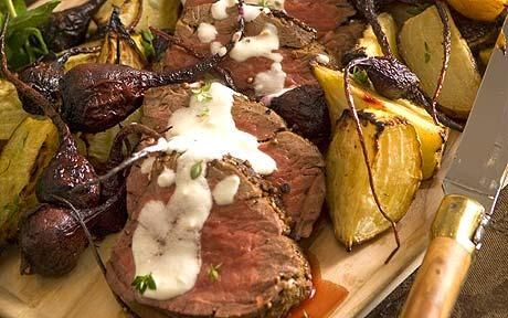 Stylish suppers from an Aga queen: Fillet of beef with peppercorn and coriander crust