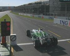 Barrichello gets a ten-second stop-go penalty after refuelling under the safety car