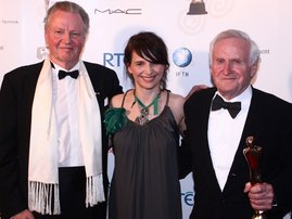 RTÉ.ie Entertainment: Jon Voight and Juliette Binoche help John Boorman celebrate after being presented with the Liftetime Achievement Award