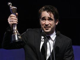 RTÉ.ie Entertainment: Colin Farrell - Claimed the award for Best Actor in a Lead Role in Film for Ondine