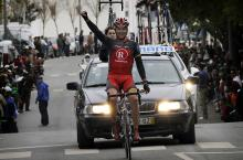 Sebastien Rosseler (Team RadioShack) solos to victory in stage four, the first win for his team.