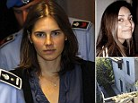 Amanda Knox the U.S. student convicted of murdering her British flatmate Meredith Kercher in Italy in November 2007, leaves the court for a break during her appeal trial session in Perugia September 30, 2011