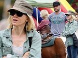 Giddy up! Naomi Watts and Liev Schreiber treat their boys to horseback riding and a day at the farmers market