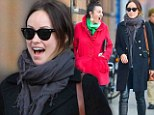 LOL! Olivia Wilde was seen holding in laughter after she apparently said something to get her friend in a laughing frenzy during their afternoon stroll in New York's Soho neighbourhood on Saturday