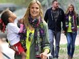 Heidi Klum and boyfriend bodyguard Martin Kristen at her children's soccer game in Los Angeles