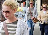Ladies lunch: Katherine Heigl and mother Nancy grabbed a quick bite at Little Dom's in Los Angeles on Saturday
