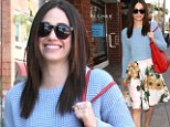 Emmy Rossum puts her vintage looks on display as she heads to the salon in a bright floral skirt
