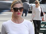 Ali Larter wears monochrome while out and about in Los Angeles