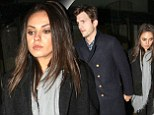 Mila Kunis and Ashton Kutcher enjoy the cultural offerings at the Barbican followed by dinner in Mayfair