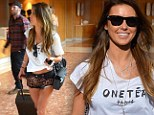 Audrina Patridge was proudly putting her long legs on display in a pair of ferociously tiny leopard print shorts as she arrived at the Hard Rock Hotel in Palm Springs, California on Friday.