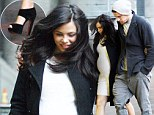 Watch your step! Pregnant Jenna Dewan totters around drizzly London in sky-high heels for dinner with Channing Tatum