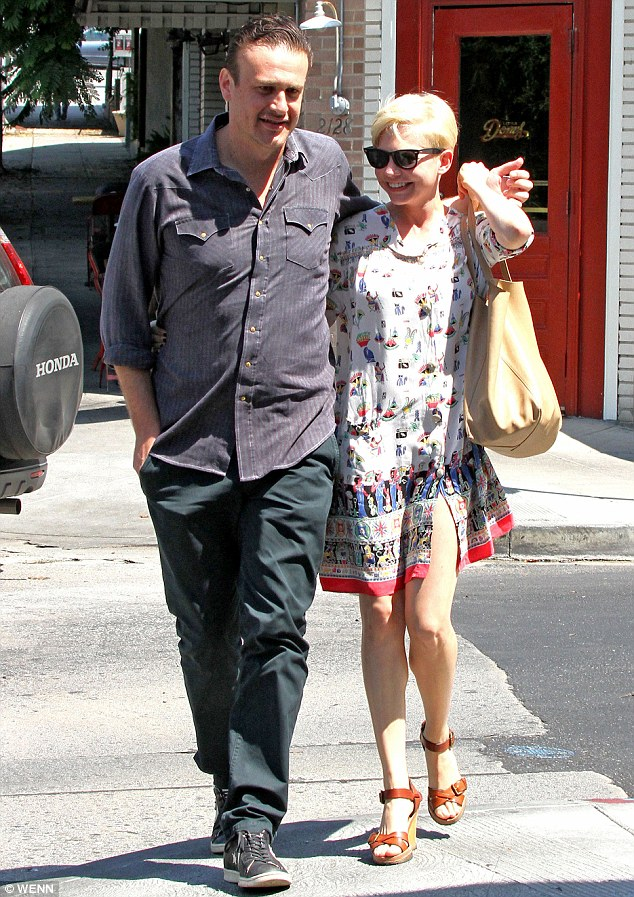 The way they were: Michelle and Jason pictured in happier times in October 2012