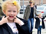 Hey funny face! Rebecca Gayheart's daughter Billie gets bit by the silly bug on mother-daughter outing
