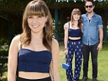 Singing the blues! Sophia Bush takes a break from rocking out at Coachella in a blue midriff baring ensemble at the H&M Music party